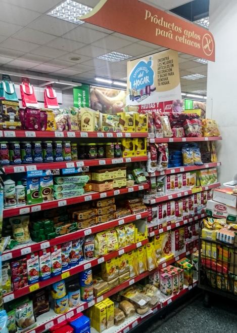 GF food aisle South American supermarket