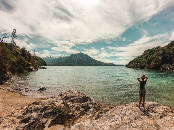things to do in Bariloche, Argentina Patagonia: villa tacul beach playa llao llao circuit hike