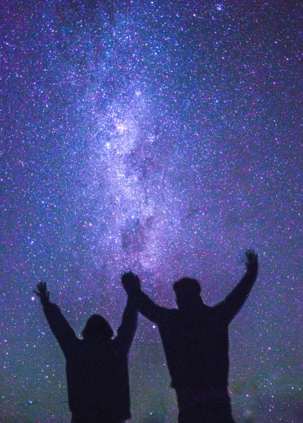 which country to visit in Latin America milky way atacama desert chile silhouette travel couple guide