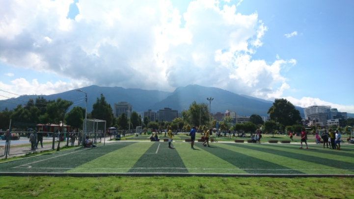 Parque la carolina football pitches quito ecuador league tournament futbol