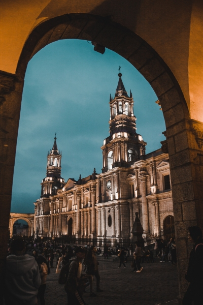 basilica catedral arequipa peru travel guide trip where to go what to do where to stay eat drink at night plaza de armas