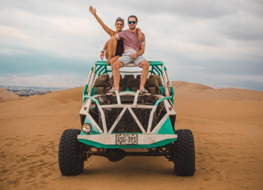 huacachina sand dunes, peru, ica, sand dune buggying buggy excursion trip travel atv fun activity things to do peru tourism