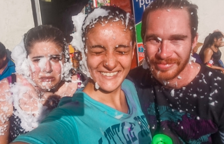 Cusco carnaval foam 2018 Day trips from Cusco
