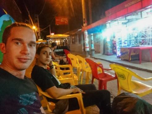 bus terminal mancora peru street